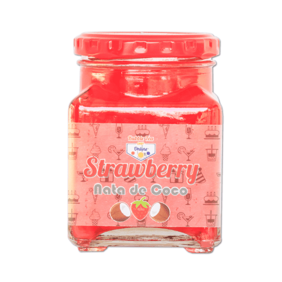 Strawberry Nata de Coco