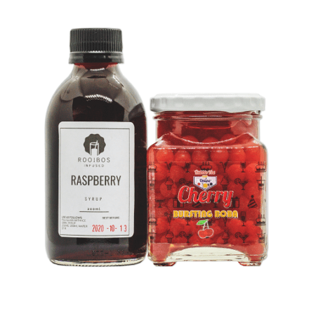 Cherry Berry Bubble Tea Combo Kit (Makes 4)