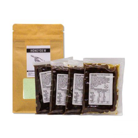 Instant Bubble Tea Kit- Honeydew (Makes 4)